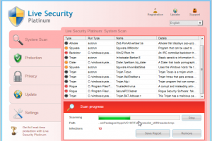 Removal of Live Security Platinum
