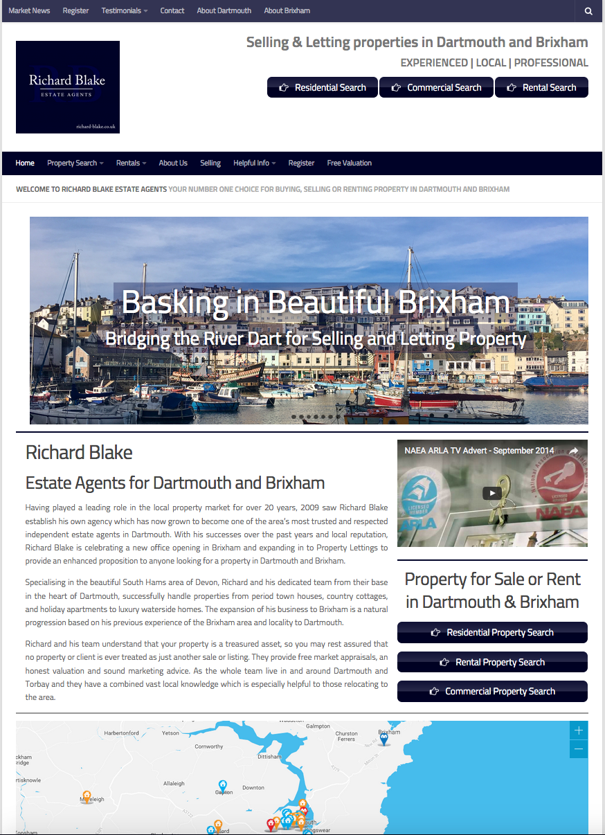 Richard Blake Estate Agents. Estate Agents Brixham, Kingswear & Dartmouth