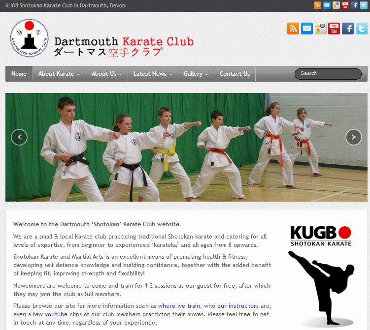 New Website & Social Media pages for Dartmouth Karate Club